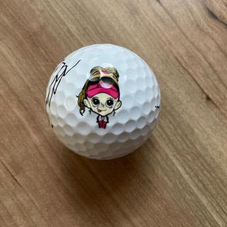 金田久美子 キンクミ 女子ゴルファー サイン入りゴルフボール