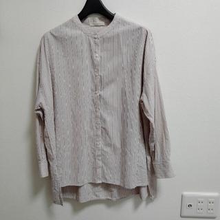 ショコラフィネローブ(chocol raffine robe)のショコラフィネローブ 長袖シャツ ストライプ(シャツ/ブラウス(長袖/七分))