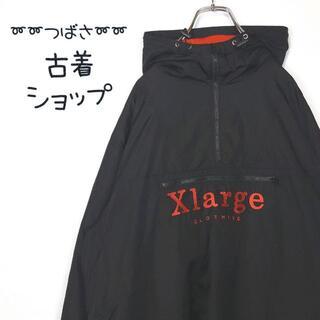 XLARGE - 【大人気】X-LARGE アノラック 刺繍 ハーフジップ パーカー L 古着