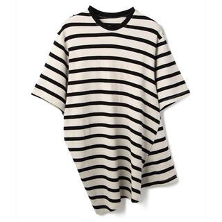 ユリウス(JULIUS)のjulius ユリウス Tシャツ ボーダー 707CUM3 ホワイト 白(Tシャツ/カットソー(半袖/袖なし))
