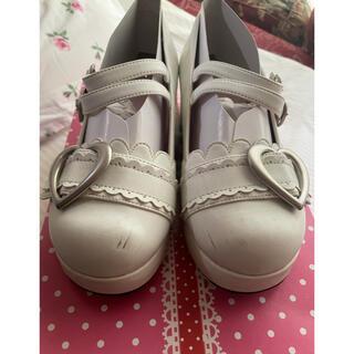 ベイビーザスターズシャインブライト(BABY,THE STARS SHINE BRIGHT)のハートバックルシューズ オフ白 S(ローファー/革靴)