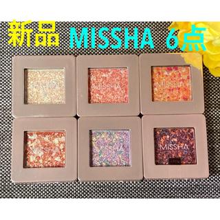 ミシャ(MISSHA)のお値下げ❗️新品❗️ミシャ グリッター プリズムシャドウ 6点セット(アイシャドウ)
