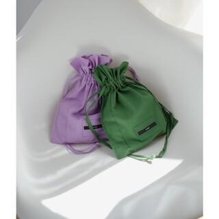 カスタネ(Kastane)のカスタネ 巾着バック パープル(ショルダーバッグ)