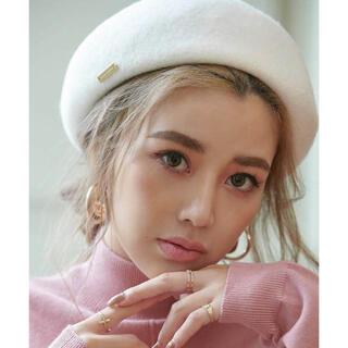 エイミーイストワール(eimy istoire)のeimy istoire♡スプリングウールベレー帽ホワイト(ハンチング/ベレー帽)