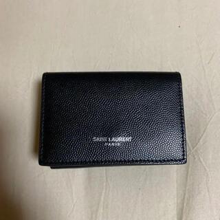 サンローラン(Saint Laurent)の【極美品】サンローラン タイニーウォレット 三つ折り財布(折り財布)
