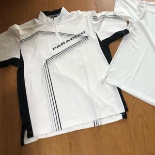 Paradiso - パラディーゾ メンズゴルフ 半袖ポロシャツ Lサイズ 白