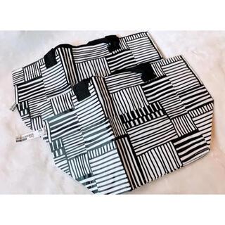 イケア(IKEA)の【再入荷!】IKEA  キャリーバック エコバッグ(白黒)Sサイズ 2枚セット(エコバッグ)