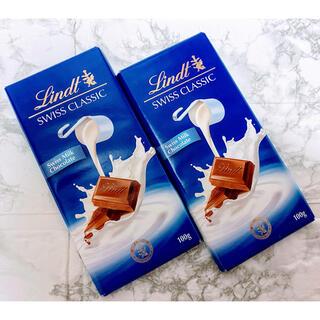 リンツ(Lindt)の【Lindt】リンツ・ミルクチョコレート SWISS  CLASSIC  2枚(菓子/デザート)