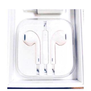 アップル(Apple)の新品 未使用 アップル純正 イヤホン iPhone 5.6 用 ジャックタイプ(ヘッドフォン/イヤフォン)