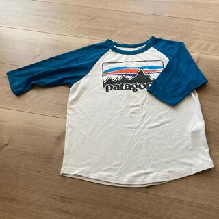 パタゴニア(patagonia)のPatagonia パタゴニア キッズ ラグラン 5分袖Tシャツ  XS(Tシャツ/カットソー)