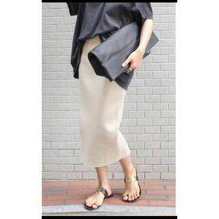 ドゥーズィエムクラス(DEUXIEME CLASSE)のDeuxieme Classe cut and sewn スカート リブ 38 (ひざ丈スカート)