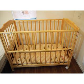 カトージ(KATOJI)のKATOJI ベビーベッド標準サイズ ハイタイプ 床板すのこ タチベッド(ベビーベッド)