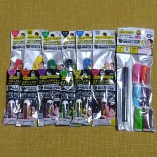 ミラクルペイント 特色6色+デコペンセット、基本6色+蛍光6色+ペイント用抜き型(小道具)