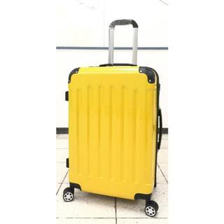 小型軽量スーツケース8輪キャリーバッグTSAロック付 機内持込Sサイズ イエロー(旅行用品)