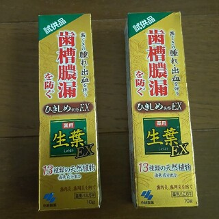 コバヤシセイヤク(小林製薬)のプロフ。じろう様 生葉 歯磨き粉 10g  2個(歯磨き粉)