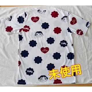 サンリオ(サンリオ)のTシャツ ペコちゃん 不二家 ユニセックス 未使用 白+紺+えんじ(Tシャツ/カットソー(半袖/袖なし))