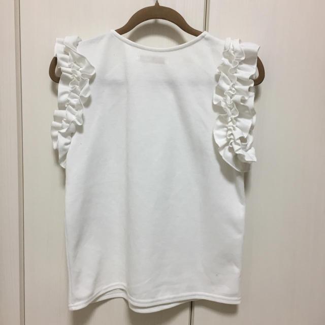 しまむら(シマムラ)の新品フリル袖 カットソーL レディースのトップス(カットソー(半袖/袖なし))の商品写真