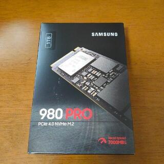 サムスン(SAMSUNG)のSAMSUNG サムスン MZ-V8P1T0B/IT 内蔵SSD 980 PRO(PC周辺機器)