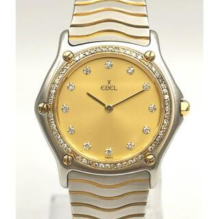 EBEL 181909 クラシックウェーブ 10Pダイヤ ベゼルダイヤ 時計