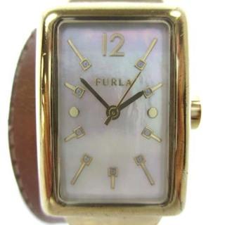 フルラ(Furla)のフルラ ブレスウォッチ 腕時計 クォーツ 2連 レザー 茶 SS シェル文字盤(腕時計)
