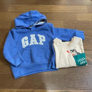 ギャップキッズ(GAP Kids)のGAP Kids ギャップ ベビーギャップ 恐竜 スケボー トップス 2点(トレーナー)