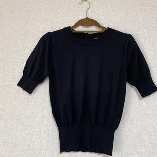ローズバッド(ROSE BUD)の未使用品 ローズバッド カシミヤ混 ニット パフスリーブ (カットソー(半袖/袖なし))