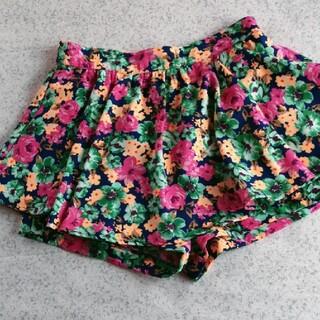 イング(INGNI)のミニスカート風スコート付★お花柄(キュロット)
