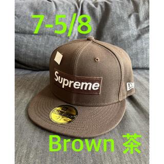 シュプリーム(Supreme)のSupreme No Comp Box Logo New Era Brown 茶(キャップ)