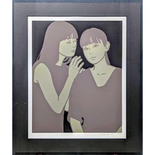 【額付】KYNE「Untitled:L」【作家直筆サイン】(版画)