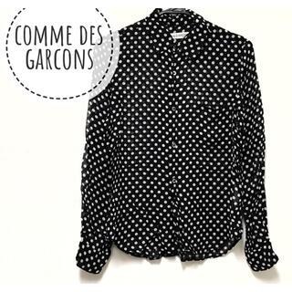 コムデギャルソン(COMME des GARCONS)のCOMME des GARCONS【美品】ドット柄 長袖 ブラウス シャツ(シャツ/ブラウス(長袖/七分))