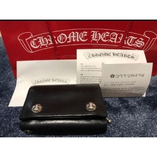 Chrome Hearts - 美品!クロムハーツ 3フォールド ウォレット 折財布