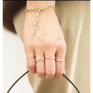 ドゥーズィエムクラス(DEUXIEME CLASSE)の★新品★JACQUIE AICHE/14K C LAW RING(リング(指輪))