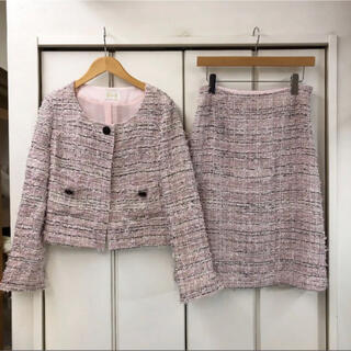 Harrods - Harrods ツイード  スカート/ジャケット スーツ セットアップ(3)