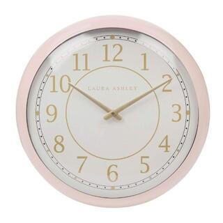 ローラアシュレイ(LAURA ASHLEY)のローラアシュレイ 壁掛け時計 ピンク レトロ 直径40cm(掛時計/柱時計)