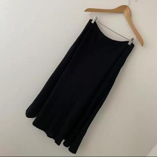 マディソンブルー(MADISONBLUE)のマディソンブルー  ウール ロングスカート ブラック 黒(ロングスカート)