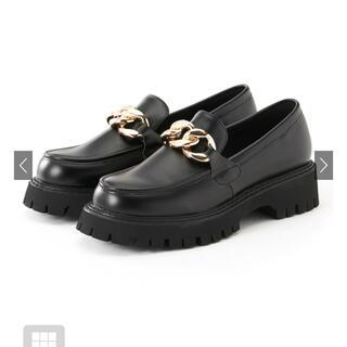 グレイル(GRL)の厚底チェーンレザーローファー(ローファー/革靴)