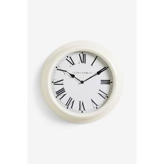 ローラアシュレイ(LAURA ASHLEY)のローラアシュレイ 壁掛け時計 クリーム 35cm(掛時計/柱時計)