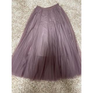 ミッシュマッシュ(MISCH MASCH)のチュールスカート プリーツスカート ロングスカート(ロングスカート)