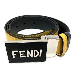 フェンディ(FENDI)のフェンディ 7C0358 ロゴバックル ボキャブラリー ベルト イエロー(ベルト)