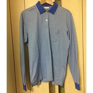 マッキントッシュフィロソフィー(MACKINTOSH PHILOSOPHY)のマッキントッシュフィロソフィー ブルー ロングスリーブポロシャツ サイズ42(ポロシャツ)