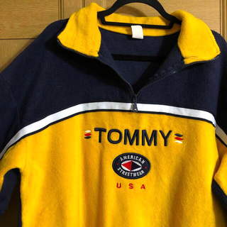 TOMMY - 【90s】TOMMY USA ハーフジップ フリース