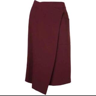 ルシェルブルー(LE CIEL BLEU)のLE CIEL BLEU ラップスカート(ひざ丈スカート)