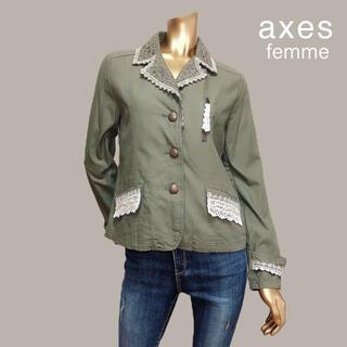 アクシーズファム(axes femme)のaxes femme パール レース テーラードジャケット*mystic ザラ(テーラードジャケット)