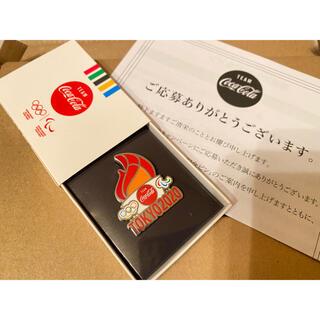コカコーラ(コカ・コーラ)のコカコーラピンバッジ 2020東京オリンピック 聖火(ノベルティグッズ)