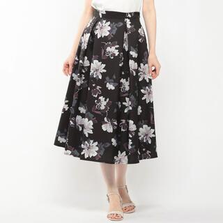 ミッシュマッシュ(MISCH MASCH)のぼかし花柄スカート(ロングスカート)