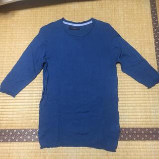 レイジブルー(RAGEBLUE)のRAGE BLUE  七分袖  ニット  Mサイズ(カットソー(長袖/七分))