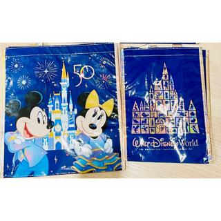 Disney - 在庫残り2セットのみ!WDW50周年 ショッピングバッグMサイズ&Sサイズ 2枚