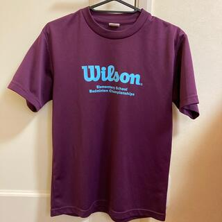 ウィルソン(wilson)の⭐️美品⭐️美品 💜Wilsonバドミントン半袖Tシャツ パープルSサイズ(バドミントン)