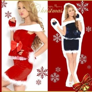エミリアウィズ(EmiriaWiz)のサンタ クリスマス ドレス ワンピ コスチューム コスプレ キャバ ペプラム (衣装一式)