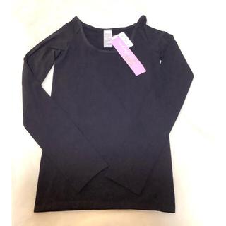 チャコット(CHACOTT)のChacott  Uネック長袖シャツ 黒(Tシャツ(長袖/七分))